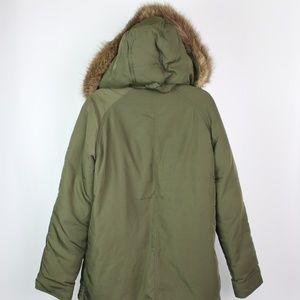 Old Navy Jackets & Coats - Old Navy olive green parka faux fur hood jacket